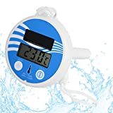 Pool Thermometer Floating, Digital Wireless Pool Thermometer, Easy Read Remote Water Thermometer Large Numbers, Indoor Outdoor Thermometer Gauge Humidity Meter Monitor for Pool, Hot Tubs, Spas