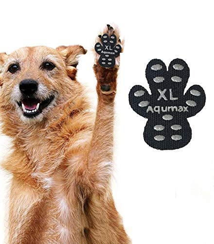 Aqumax Dog Paw Protector Anti-Slip Traction Pads from Slipping on Hardwood Floors,Walk Assistant for...