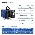 Sailnovo Générateur d'Ozone 6000mg/h Commercial Purificateur d'air Industriel Désodorisant Stérilisateur #3