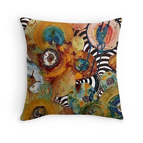 Abstract throw pillow. Original unique