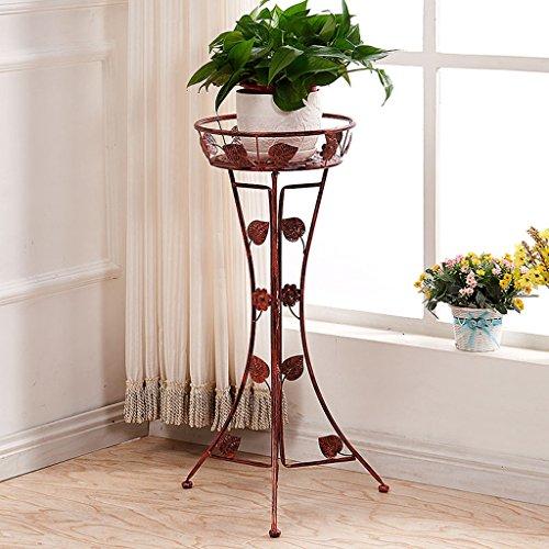 Plancher en fleur de fer Plancher Balcon Pots de fleurs suspendues Salon Riz vert pliant (Couleur : Cuivre rouge)