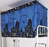 Tenda a baldacchino antipolvere, per letto singolo, letto a castello, dormitori oscuranti, zanzariere, tenda per letto junior soppalco, studenti, dormitori, dormitori e dormitori