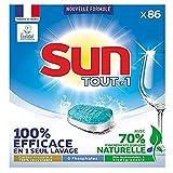 Sun Tablettes Lave-Vaisselle x86 Tout en 1 Standard, efficace en 1 seul lavage, Eco Label, Fabriqué en France, x 86 tablettes