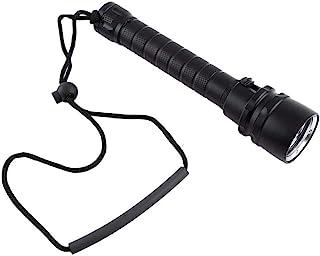 8000LM水中3×T6 LEDダイビングライト懐中電灯ダイブトーチ+ハンドストラップ 使用深度100メートル アルミ合金製 防水 耐久耐腐食 潜水専用 滑り止めハンドル 電池付属なし