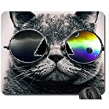 Alfrombrillas Mousepad Gafas De Sol Mouse Pad, Mousepad (Gatos Mouse Pad) 25X30Cm Alfombrilla de ratón Antideslizante