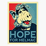 Hope For Melmac, Obama Yes We Can Parody With Alf Alien, Original Design, T, Tee, Jersey, Poster, Artwork Sticker Decal Vinyl Bumper Sticker Decal Waterproof 5'