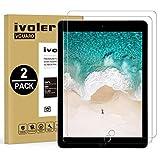 ivoler [2 Stück] Panzerglas Schutzfolie für iPad Pro 12.9 Zoll 2015/2017, 9H Festigkeit, Anti- Kratzer, Bläschenfrei, 2.5D R&e Kante