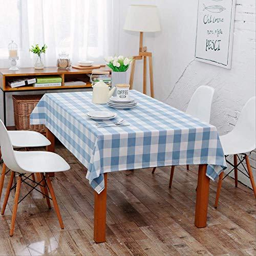 Jackchen tafelkleed, minimalistisch, modern 140X160CM Blauw vierkant