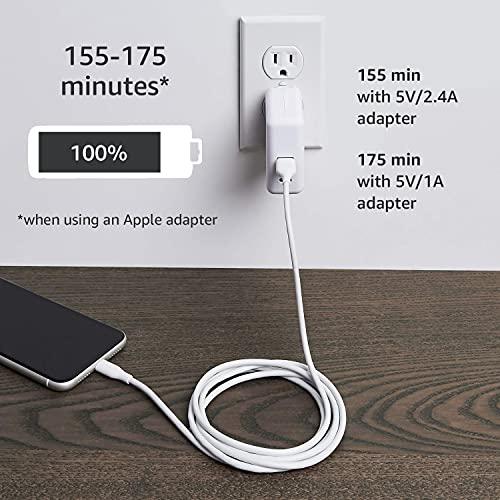 Amazon Basics - Cable Lightning a USB-A, cargador para iPhone certificado por MFi, color blanco, 1,82m