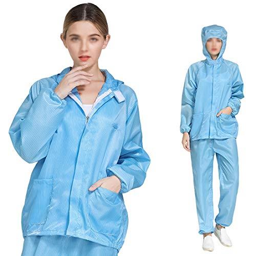 Care, beschermend pak, antistatische kleding pak, split stofband, ademend, wasbaar en herbruikbaar, blauw, XXL