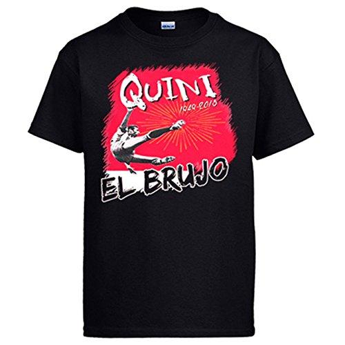 Diver Camisetas Camiseta Homenaje a Quini El Brujo del fútbol - Negro, L