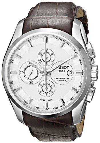 Tissot Couturier T0356271603100 - Reloj de Caballero automático, Correa de Piel Color marrón