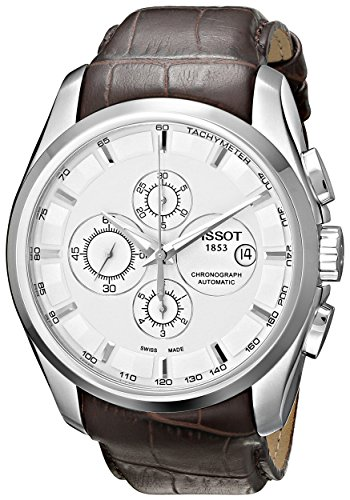 Tissot Men's T0356271603100 Couturier White Chronograph Dial Watch