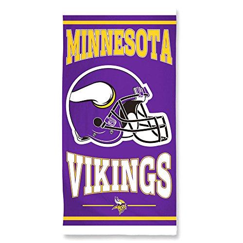 WinCraft NFL MINNESOTA VIKINGS Fiber Beach Towel 75 cm x 150 cm