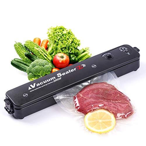 YSJOMJHYS Vacuum Sealer Machine Portable Automatic Food Sealer Savers for Kitchen Household Automatic Air Sealing Machine with 20 Pcs Vacuum Bags Black