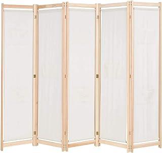 comprar comparacion vidaXL Biombo 5 Paneles Separadores de Habitación 200x170cm Tela Crema Mampara