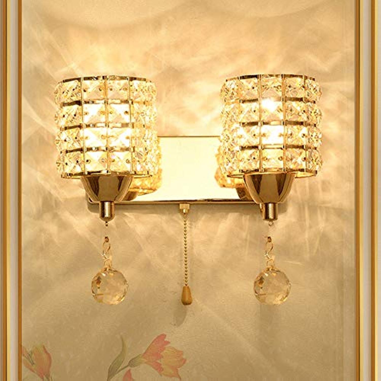 WBXZAL-Wandlampe led - wand mit hochwertigen crystal bett wand lampe hotel treppe wall lamp,b