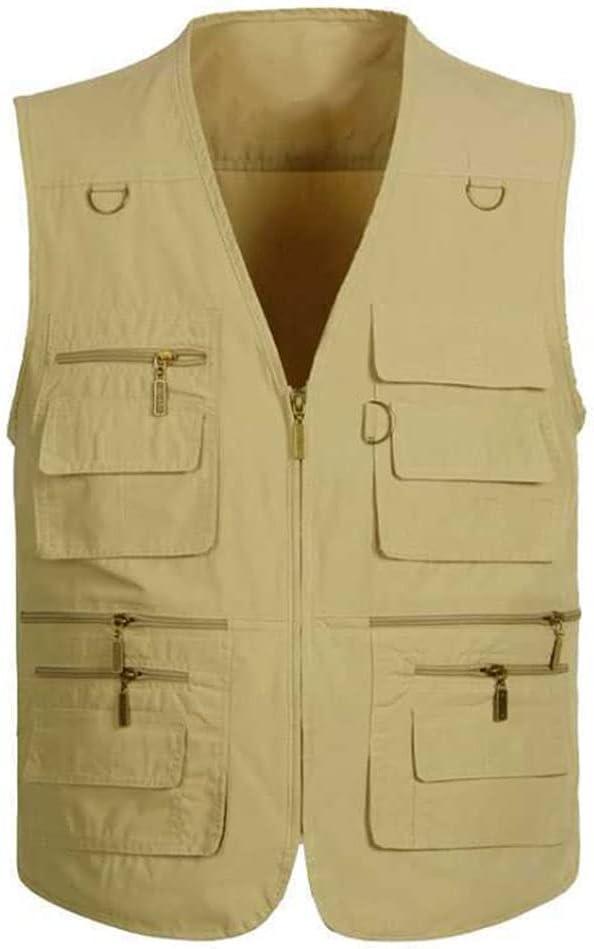 Fishing Vests 25% OFF for Men Vest Multi Pocket Outerwear S Max 54% OFF