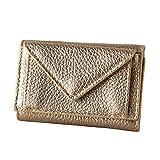 [イマイバッグ] QUAY コンパクト ウォレット イタリアンレザー 三つ折財布 ウォレット 財布 Rimini-compact ゴールド