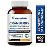 Vitamistic Organic Cranberry 50:1 Whole Fruit Concentrate 600mg, 90 Veggie...