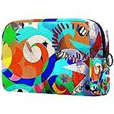 Bolsa de maquillaje de dibujos animados bolsa de cosméticos impresa artículos de tocador bolsas de viaje bolsas de cosméticos para mujeres tinta abstracta