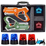 DYNASTY TOYS Capture The Flag Glow in the Dark Laser Tag Game