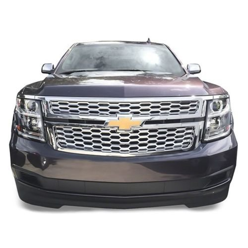 DeluxeAuto Chrome Grille Overlay (2 Pieces Kit) is Compatible with 2015 2016 2017 2018 2019 2020 Chevy Tahoe Suburban LS/LT