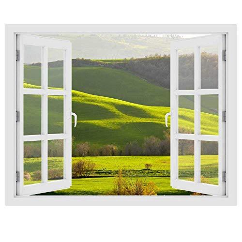 Sticker fenêtre 3D - Le printemps en Toscane - Taille 150x118 cm - Fabrication France par Stickers muraux Beestick