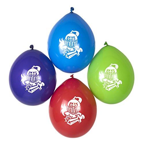 cama24com Ritter-Party 12 Luftballons für kleine Ritter Mottoparty Party-Deko von Palandi®