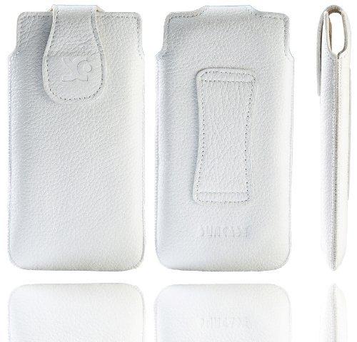 Suncase - Funda de cuero para Nokia Lumia 620, color blanco rugoso