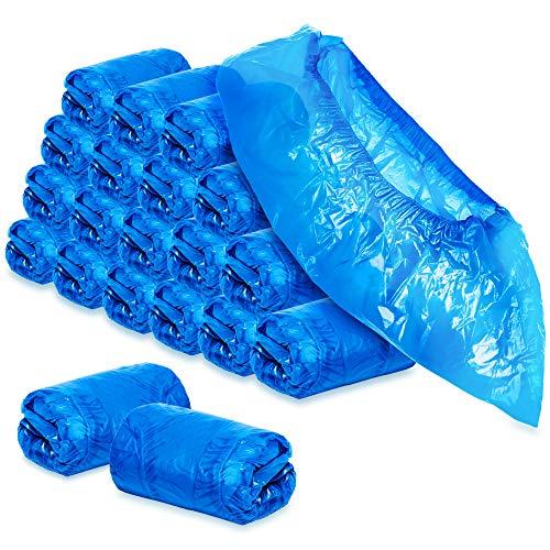 com-four® 200x Cubre Zapatos Desechables 5 g por Cubre Zapatillas - Cubre Zapatos de plástico - Zapatos Desechables en Talla única
