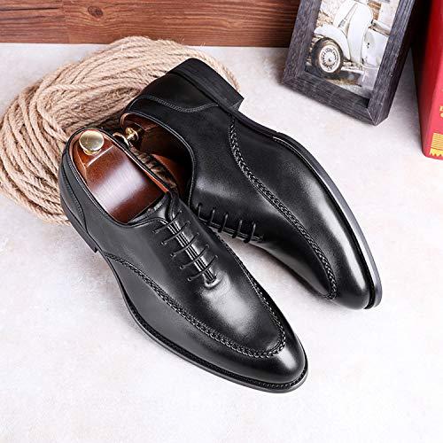 [フォクスセンス]ビジネスシューズ本革Uチップ革靴紳士靴メンズドレスシューズブラック25.5CM891702-01