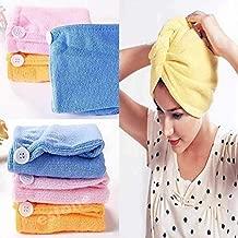 Orson Hair Towel Wrap Absorbent Towel Hair-Drying Quick Dry Shower Caps Bathrobe Magic Hair Warp Towel Super Quick-Drying Microfiber Bath Towel Hair Dry Cap Salon Towel(1)