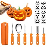 Halloween Pumpkin Carving Kit,6 Pieces Heavy Duty Stainless Steel Carving Tools Set with Storage Carrying Bag...