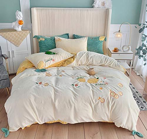 funda nordica cama 90 juveniles,Colcha de estilo de dibujos animados de invierno bordado cama de estudiante individual y doble color...