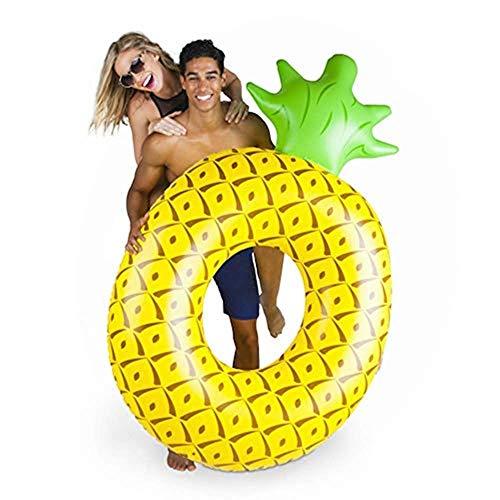 eBoutik Riesiger aufblasbarer Ananas-Schwimmring für den Pool, für den Außenbereich, Strand, Party, Spielen für Kinder, Erwachsene und Kinder, Ananas (160 cm x 90 cm)