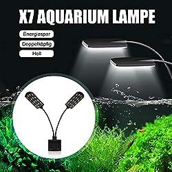 SENZEAL-X7-LED-Aquarium-Beleuchtung-Zwillinge-Aquarium-Lampe-Zwei-Kpfe-LED-Licht-220V-15W-1600LM-fr-8-bis-15-Zoll-Fisch-Tank-Weies-Licht