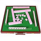 Bixialan Set de Mahjong Mini 30mm Tradicional Juego de Mahjong Juego Partido Encuentro de Juegos con Mini Vector for el Partido hogar y el Recorrido para el hogar Fiesta (Color : Blue, Size : 30mm)