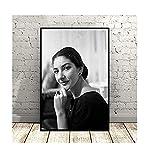 DPFRY Wandkunst Bild Sängerin Maria Callas Kunst Poster