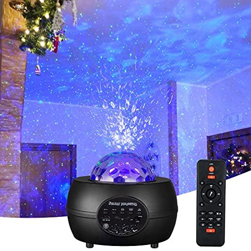 Sternenhimmel Projektor Led Deko 15-Farben Ozeanwellen Sternenlicht Projektor mit Bluetooth-Lautsprecher Led Projektor Sternenhimmel Lampe Starry Projector Light für Baby Erwachsene