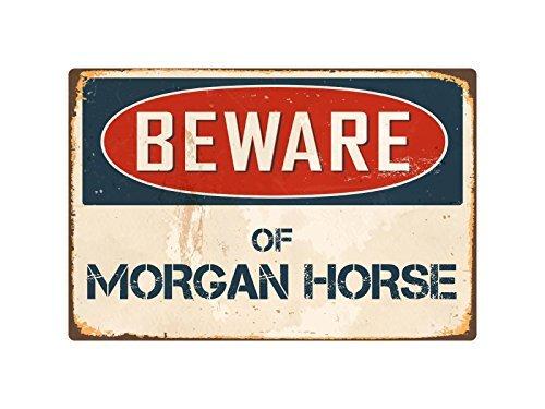 Zhaoshoping Metalen bord Post Pas op Van Morgan Paard Aluminium Metalen Post Muurdecoratie