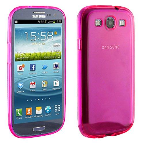 Urcover Custodia Galaxy S3 Mini, Custodia Back Cover Silicone TPU Morbido Ultra Slim/Light, Samsung Galaxy S3 Mini Fucsia