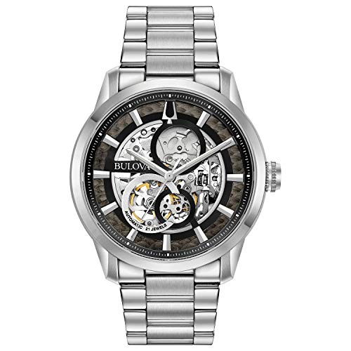 Bulova Classic Automatic Mens Stainless Steel , Silver-Tone (Model: 96A208)