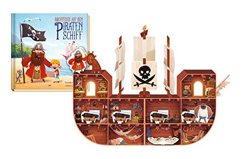Abenteuer auf dem Piratenschiff: Buch mit Piratenschiffmodell
