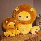 2 Unids / Set 25/40 Cm Golden Adorable León De Peluche De Juguete De Peluche De Leones Sentados Pequeño Zoológico De Animales De Dibujos Animados Lindo Regalo Apaciguador para Niños