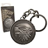 Noble Collection Juego de Tronos Casa Stark Cresta Schattenwolf Llaveros