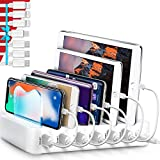Poweroni USB Charging Station Dock - 6-Port - Fast Charge Docking Station for Multiple Devices -...
