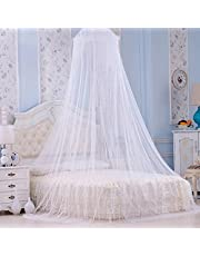 Tebery Mosquito Bed Net | Grote Scherm Netting Bed luifel Cirkelgordijn | Houdt insecten en vliegen weg | Home & Travel