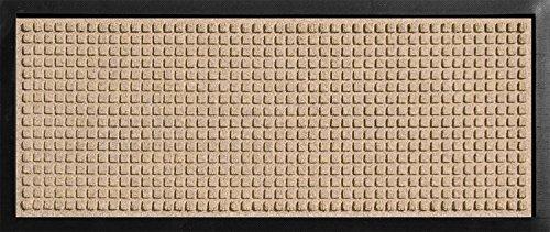 Hudson Exchange 4010 Classic Boot Tray Mat, 34 L x 15 W, 3/8 Thick, Medium Brown