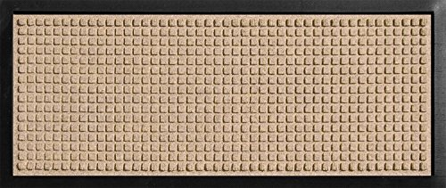 Hudson Exchange 4010 Classic Boot Tray Mat, 34' L x 15' W, 3/8' Thick, Medium Brown